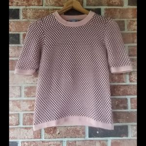 3/$20 COS Pink Black Short Sleeve Knit Top XS